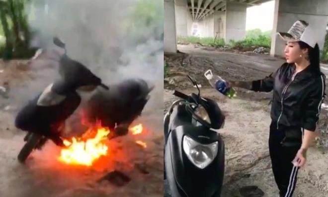 Sốc: Cô gái mang xe tay ga ra chân cầu đốt 'gửi than cho đồng bào miền Trung sưởi ấm' để khoe giàu
