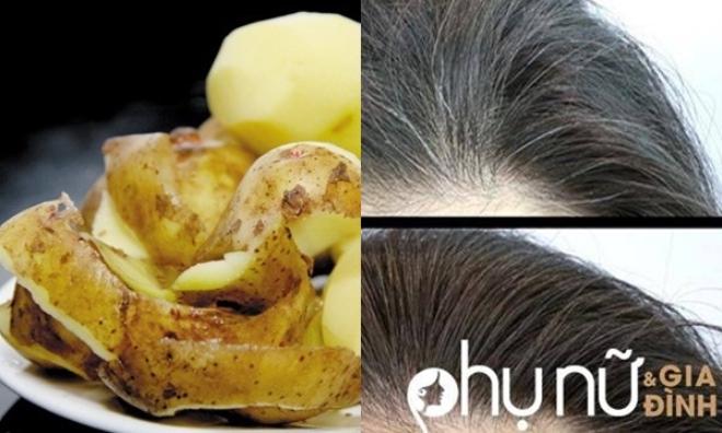 Hô biến tóc bạc trắng thành tóc đen mượt như đi tiệm về nhờ vỏ khoai tây