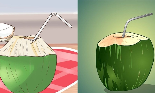 Lột xác từ trong ra ngoài nhờ uống nước dừa tươi liên tục khi bụng đói meo