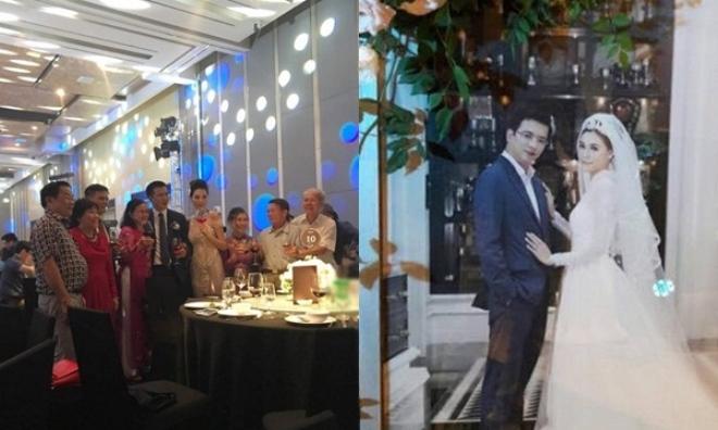 Rò rỉ hình ảnh hiếm hoi về lễ cưới siêu 'khủng' của BTV Quang Minh và vợ xinh đẹp kém tuổi