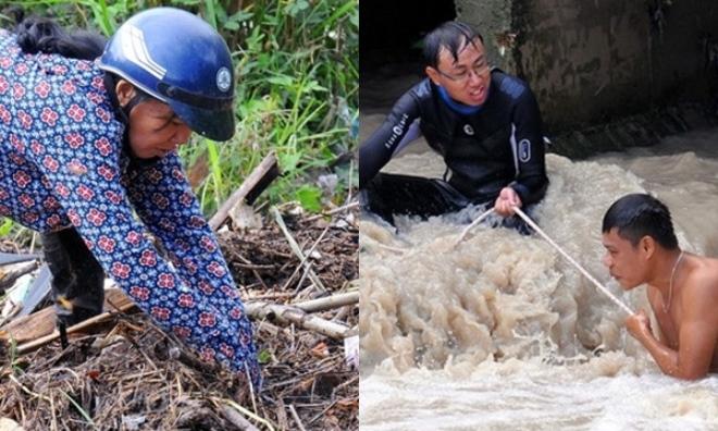 Bé trai 11 tuổi bị nước cuốn trôi vẫn chưa được tìm thấy, ba mẹ ngất lên ngất xuống, người dân cả đêm không ngủ vì xót thương