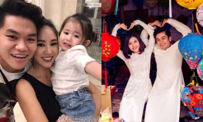 Lê Phương - Trung Kiên tay trong tay đến dự tiệc sinh nhật của con gái Vân Trang và chồng đại gia
