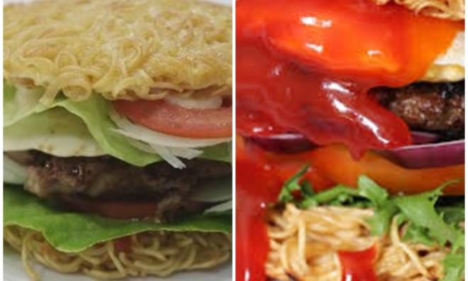 Mách bạn cách làm bánh hamburger bằng mì gói ngon miễn chê