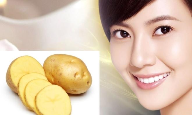 Da đẹp bất ngờ khi dùng cách làm trắng da mặt bằng khoai tây