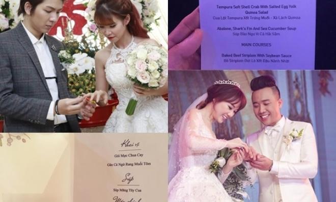Thực đơn đám cưới mỗi người một kiểu của sao Việt: Người xa xỉ, kẻ giản dị không ngờ