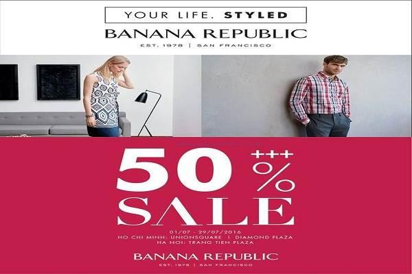 Từ ngày 31/08 - 04/09 thời trang Banana Republic khuyến mãi giảm giá 20% - Ảnh 1