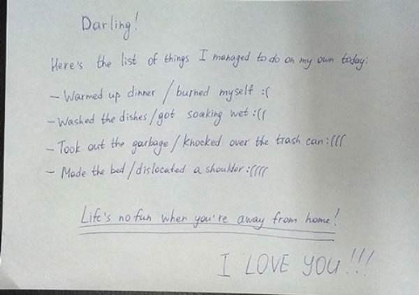 Những lời nhắn bá đạo vợ gửi cho chồng - Ảnh 5