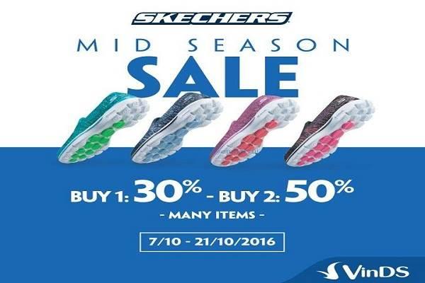 Từ ngày 07 - 21/10 giày Skechers khuyến mãi Mid Season Sale giảm giá 30-50% - Ảnh 1
