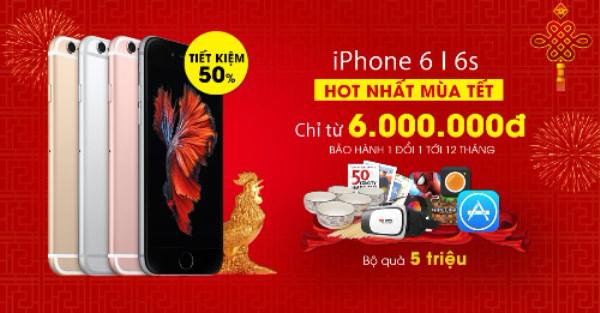 iPhone 6 giảm giá 50% dịp Tết - Ảnh 1