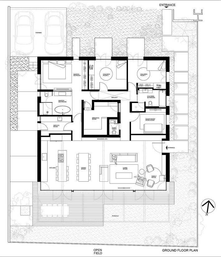 Ngôi nhà nằm giữa vùng quê yên bình với nét thiết kế cởi mở và hiện đại - Ảnh 12