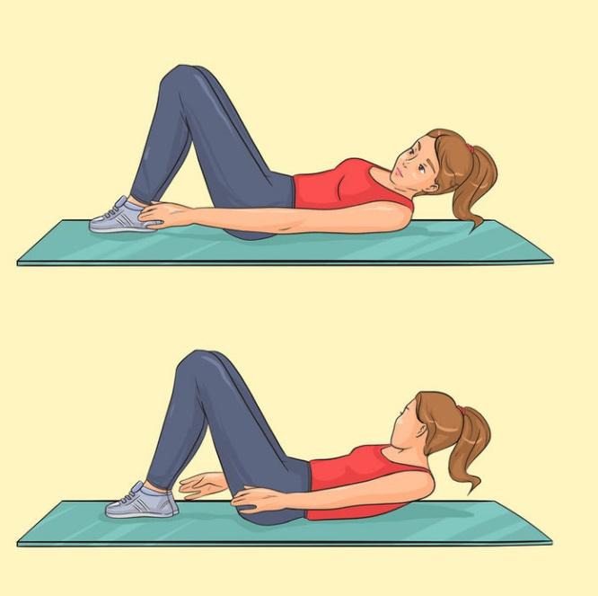 4 bài tập giúp vòng eo thon gọn: Gập bụng, plank... hiệu quả miễn bàn - Ảnh 1