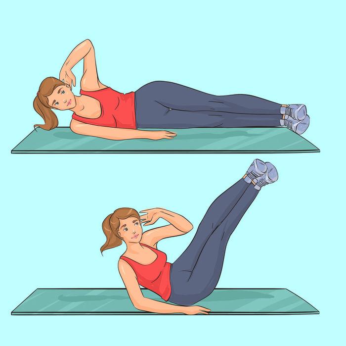 4 bài tập giúp vòng eo thon gọn: Gập bụng, plank... hiệu quả miễn bàn - Ảnh 2