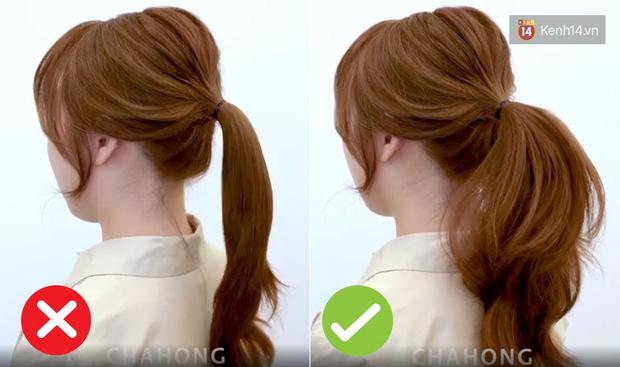 Chỉ cần dùng thêm một chiếc cặp tóc nhỏ là bạn đã có mái tóc đuôi ngựa bồng bềnh như gái Hàn. - Ảnh 1