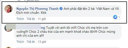 Vợ đi đẻ ngày U22 Việt Nam giành HCV SEA Games, MC Thành Trung 'quẩy' tại bệnh viện, sao Việt đua nhau đặt tên cho em bé - Ảnh 6