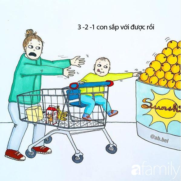 Bộ tranh lột tả muôn vàn những tình huống bi hài các mẹ sẽ phải đối mặt khi có con nhỏ - Ảnh 12
