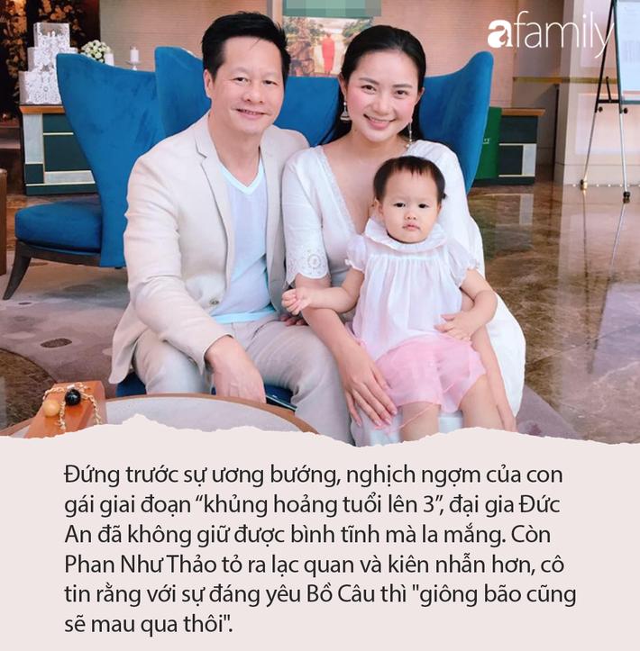 Con gái 'khủng hoảng tuổi lên 3', ông xã đại gia của Phan Như Thảo bực bội la mắng, phản ứng của cô bé khiến anh phải giật mình - Ảnh 1