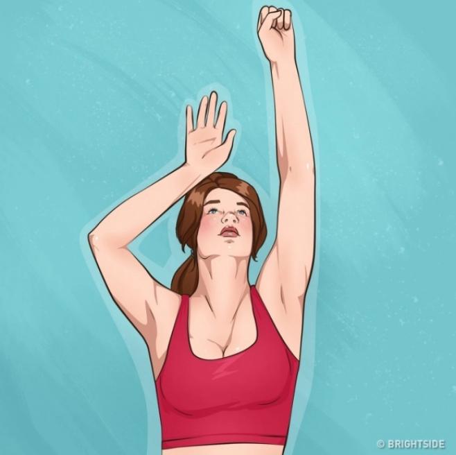 10 bài tập đơn giản giúp cánh tay và ngực săn chắc - Ảnh 2