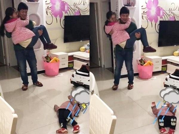 Thấy bố sắp đi công tác bịn rịn ôm mẹ, phản ứng của cô con gái khiến ai nấy phá lên cười - Ảnh 4