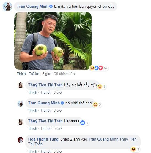 DJ Tít dùng 2 trái dừa che ngực hớ hênh, BTV Quang Minh phản ứng cực 'bá đạo' - Ảnh 4