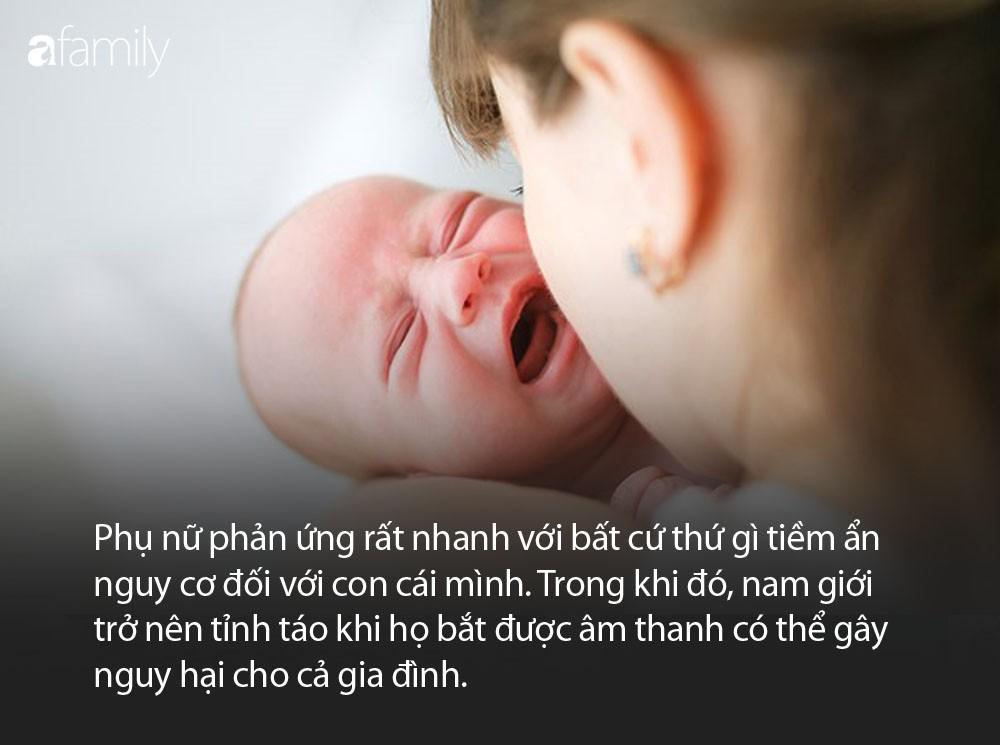 Hễ con khẽ e e khóc mẹ đã ngay lập tức tỉnh giấc còn các ông bố vẫn ngáy o o, tất cả đều có lý do cả đấy - Ảnh 1