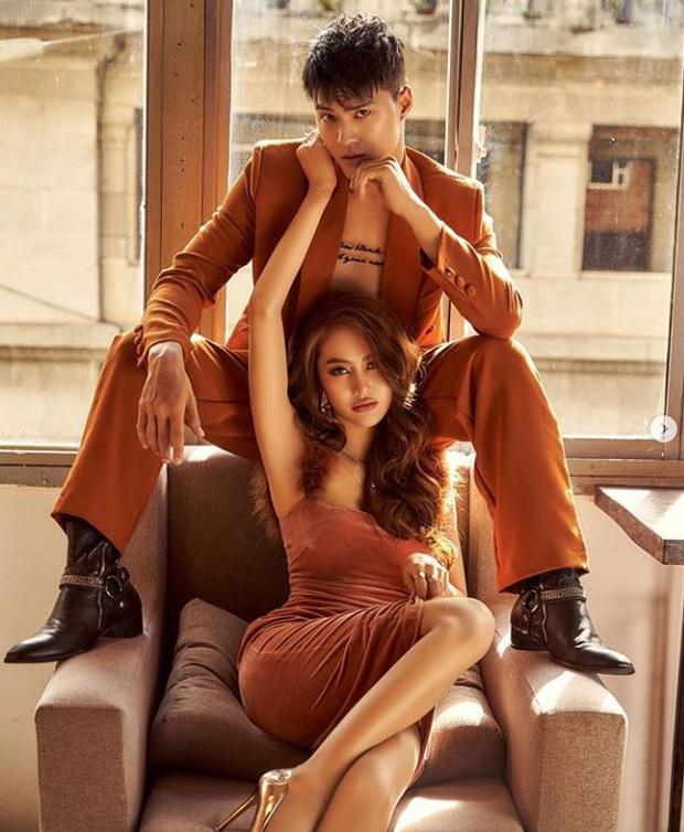 Linh Chi khoe vẻ quyến rũ, diện đồ tone-sur-tone đầy tình tứ bên chồng chưa cưới Lâm Vinh Hải - Ảnh 1