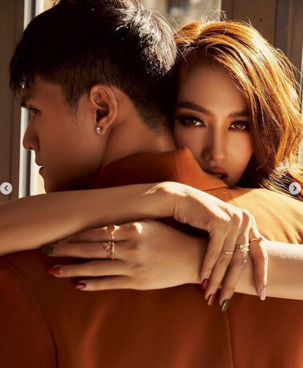 Linh Chi khoe vẻ quyến rũ, diện đồ tone-sur-tone đầy tình tứ bên chồng chưa cưới Lâm Vinh Hải - Ảnh 3
