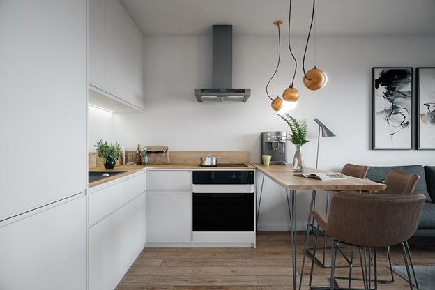 Ngắm nhìn căn hộ nhỏ gọn, tiện nghi và lịch lãm - Ảnh 3