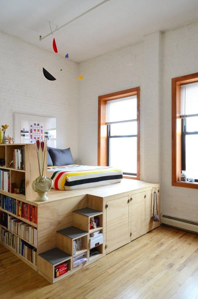 Những kiểu giường đột phá về thiết kế và sự tiện dụng cho phòng ngủ tý hon - Ảnh 2