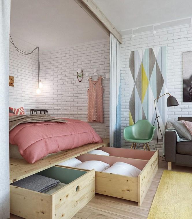 Những kiểu giường đột phá về thiết kế và sự tiện dụng cho phòng ngủ tý hon - Ảnh 4