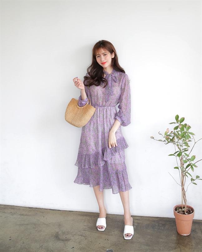 Muôn kiểu phối váy xếp tầng bồng bềnh cho nàng nữ tính - Ảnh 17