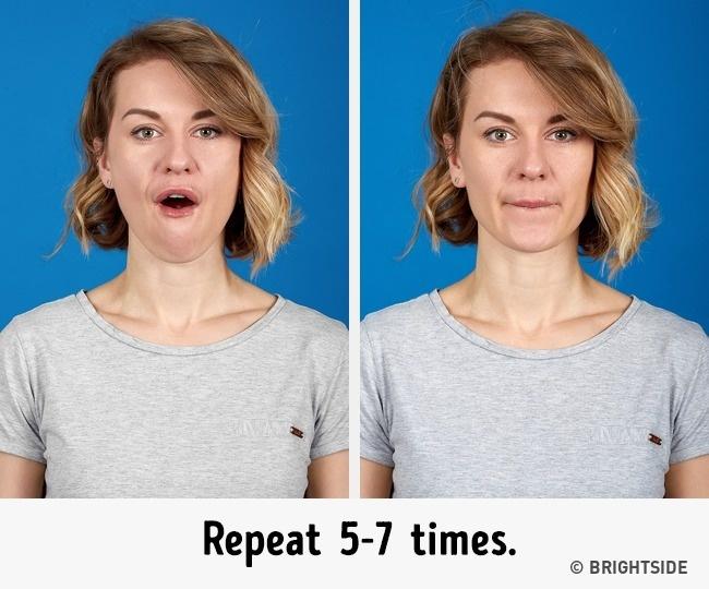 Muốn khuôn mặt thon gọn không còn ngấn mỡ, nọng cằm trước Tết, hãy chăm chỉ thực hiện 7 bài tập này mỗi ngày - Ảnh 2