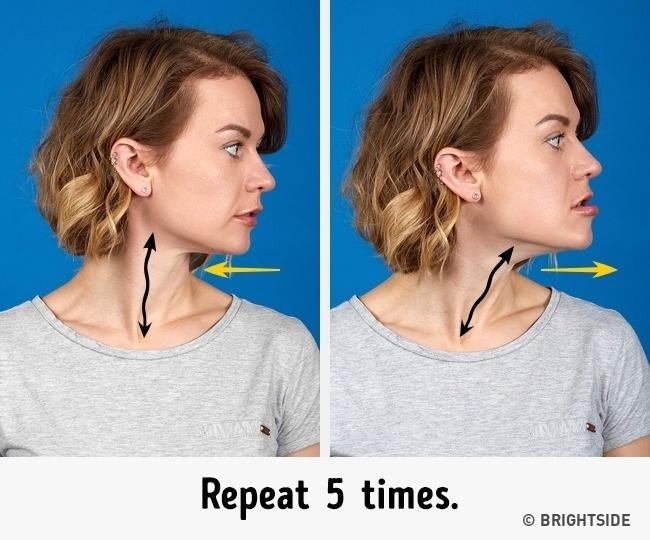 Muốn khuôn mặt thon gọn không còn ngấn mỡ, nọng cằm trước Tết, hãy chăm chỉ thực hiện 7 bài tập này mỗi ngày - Ảnh 4