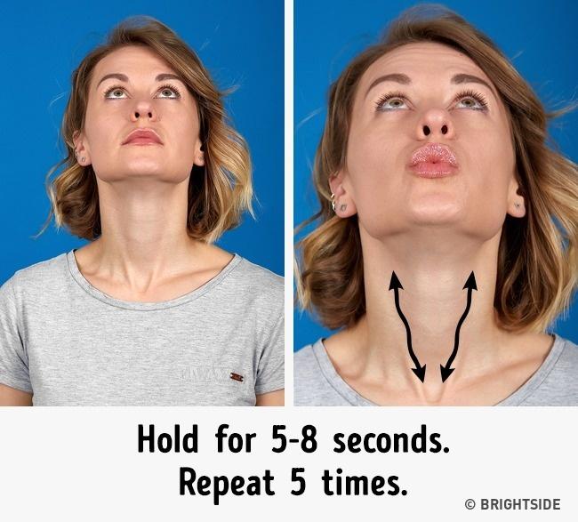 Muốn khuôn mặt thon gọn không còn ngấn mỡ, nọng cằm trước Tết, hãy chăm chỉ thực hiện 7 bài tập này mỗi ngày - Ảnh 5