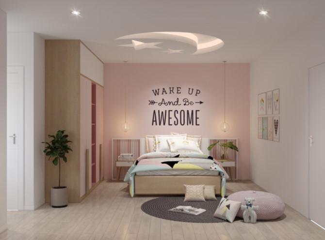 Cách phối mầu, trang trí phòng ngủ dễ thương cho trẻ - Ảnh 2