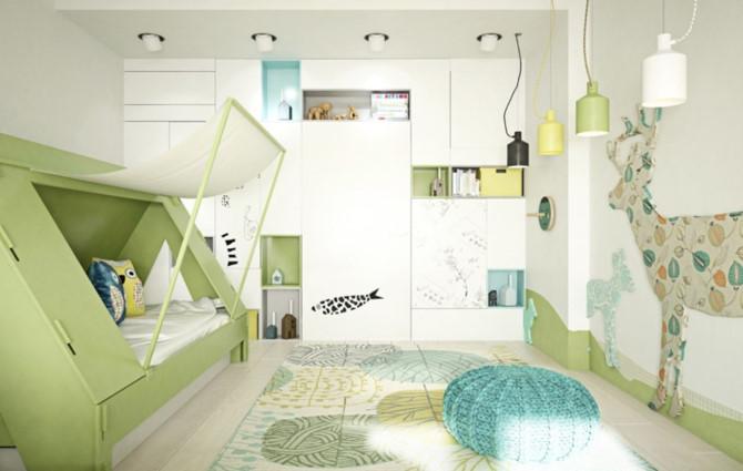 Cách phối mầu, trang trí phòng ngủ dễ thương cho trẻ - Ảnh 9