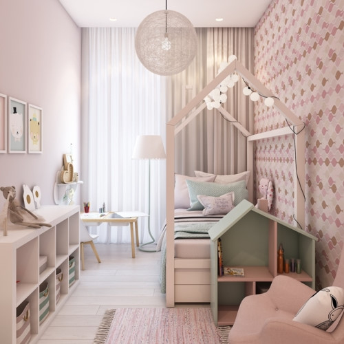 Cách phối mầu, trang trí phòng ngủ dễ thương cho trẻ - Ảnh 3
