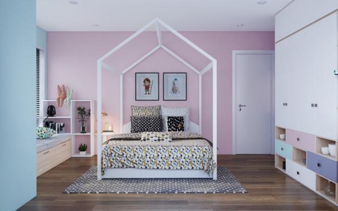 Cách phối mầu, trang trí phòng ngủ dễ thương cho trẻ - Ảnh 4