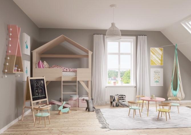 Cách phối mầu, trang trí phòng ngủ dễ thương cho trẻ - Ảnh 5