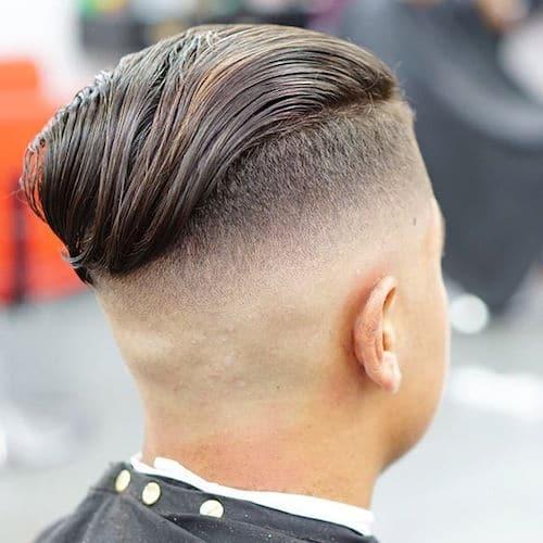 Kiểu tóc vuốt ngược ra sau cho nam với kiểu tóc undercut