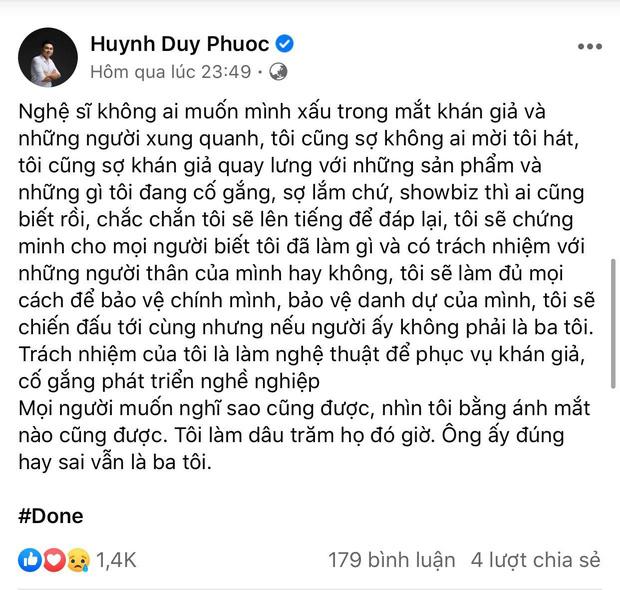 Duy Phương tiết lộ con trai không bao giờ cho tiền, Duy Phước buồn bã đăng status: 'Ông ấy đúng hay sai vẫn là ba tôi' - Ảnh 1