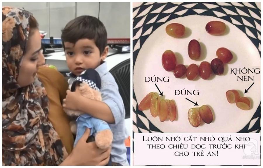 Ăn một quả nho bé trai 18 tháng ngừng thở, nhờ sự nhanh nhẹn của cảnh sát bé thoát bàn tay tử thần - Ảnh 1