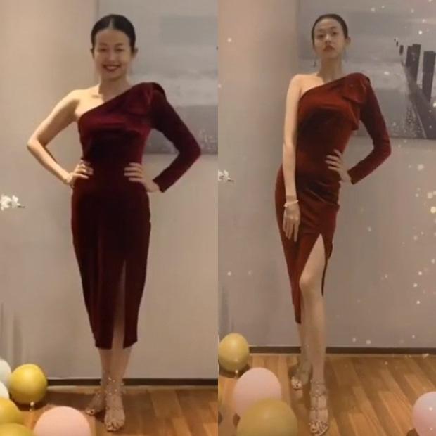 Đến Ngọc Trinh mà không áp dụng thủ thuật tạo dáng thì điểm sexy cũng vơi đi phân nửa khi diện váy xẻ - Ảnh 1