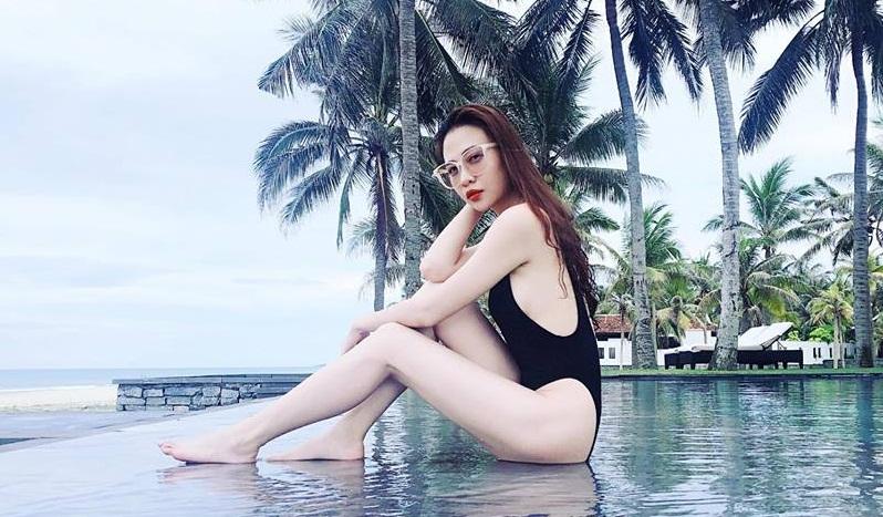 Mặc bikini khoét cao, Đàm Thu Trang - bạn gái Cường Đô la lại đốn tim fan - Ảnh 2