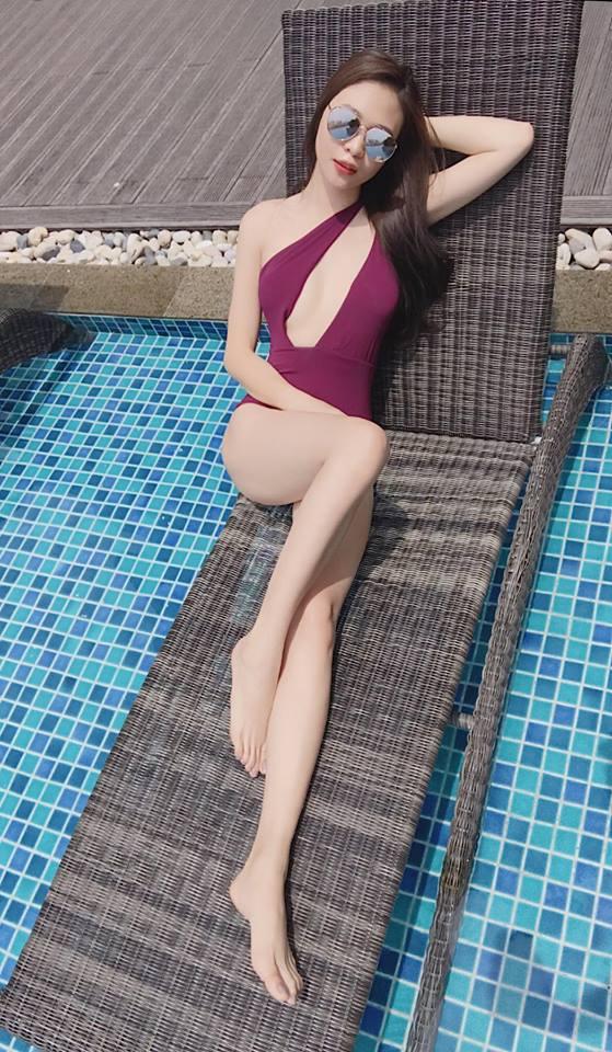 Mặc bikini khoét cao, Đàm Thu Trang - bạn gái Cường Đô la lại đốn tim fan - Ảnh 6