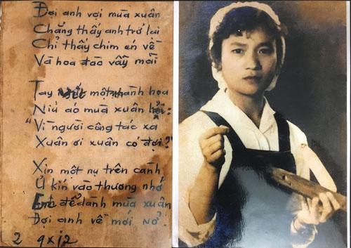 Bức ảnh nữ công nhân dệt may và bài thơ trong túi áo chiến sĩ hy sinhở Trường Sơn.- Tấm ảnh trong túi áo liệt sĩ ở Trường Sơn