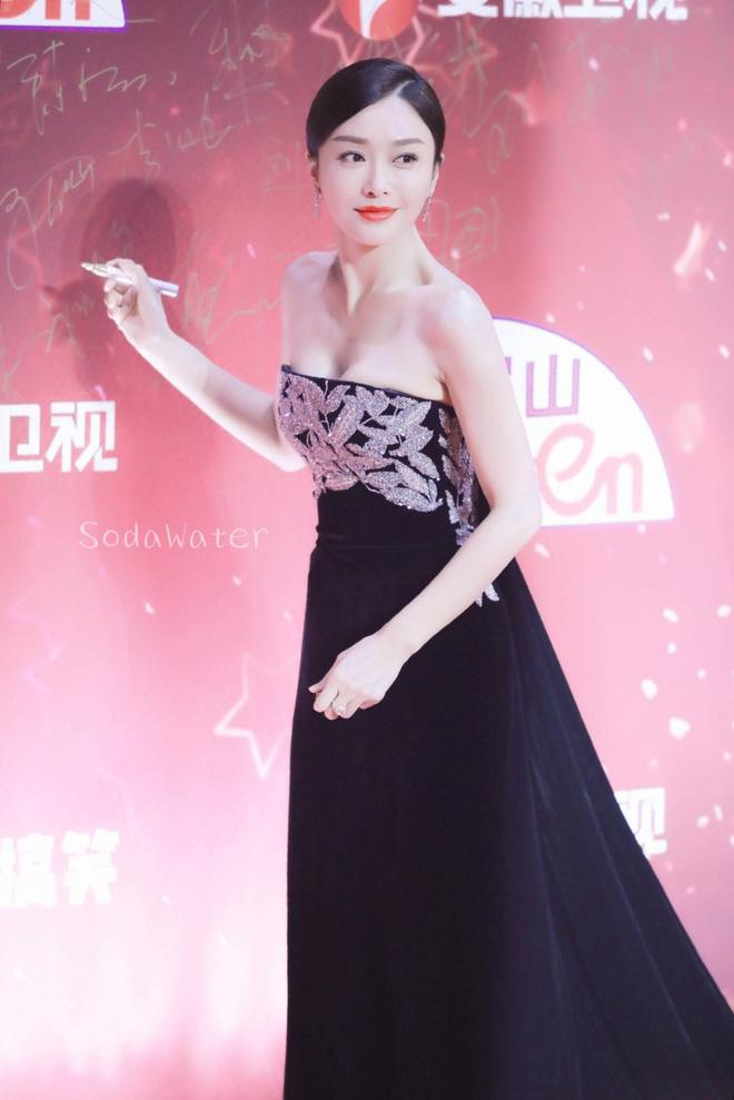 """Đi thảm đỏ """"gắt"""" như Hoàng hậu Tần Lam: Khoe vòng một căng đầy, quyến rũ đến nghẹt thở giữa thời tiết giá rét - Ảnh 5"""