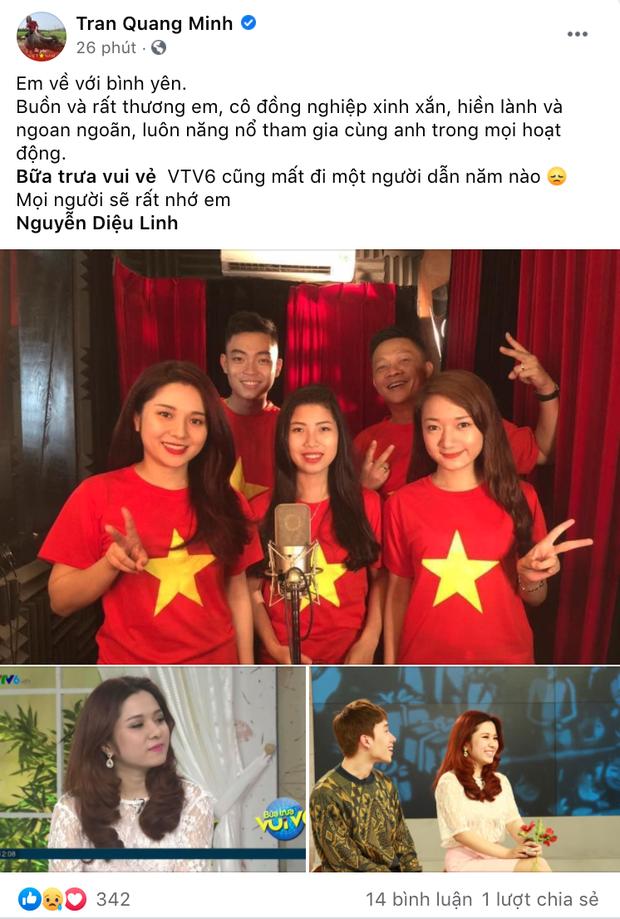 """Đồng nghiệp ở VTV và các đài truyền hình xót xa khi nghe tin MC Diệu Linh qua đời: """"Sẽ không còn đau khổ em nhé"""" - Ảnh 4"""