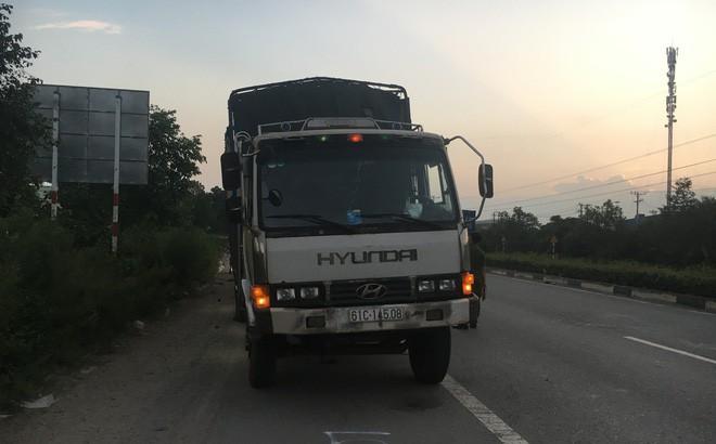 Dừng sửa xe, tài xế xe tải chở củi bị xe chở than tông chết thương tâm - Ảnh 1