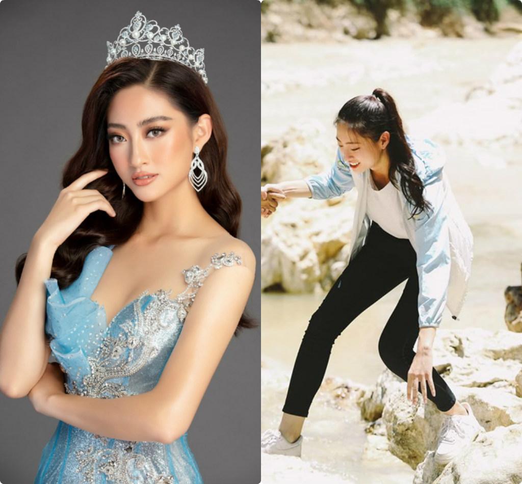 Hoa hậu Lương Thùy Linh xúc động thăm dân vùng lũ, fan khen điều này - Ảnh 1