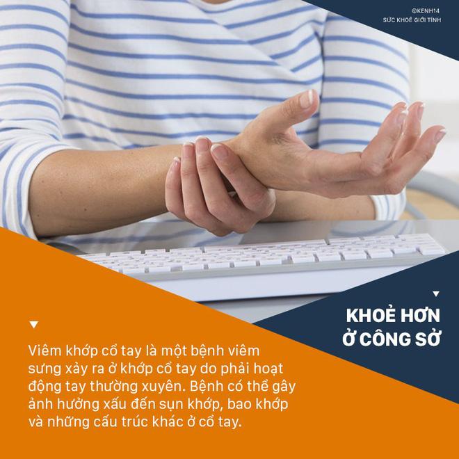 Dân văn phòng làm việc với máy tính nhiều sẽ có nguy cơ cao phải đối mặt với 4 căn bệnh ở tay sau đây - Ảnh 1
